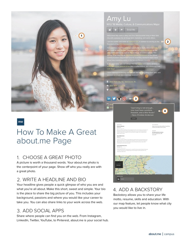 How To Make A Great about.me Page